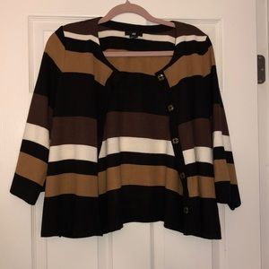 H&M Striped Cardigan M